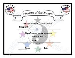 Student Of The Month Certificate Templates Certificate Student Of The Month