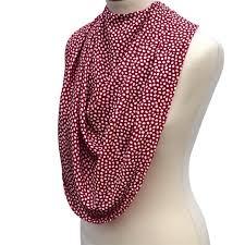 Care Designs Pashmina Scarf Style Clothes Protector Bib Burgundy Dot
