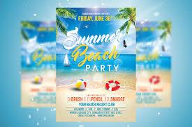Beach Flyer Summer Beach Party Flyer