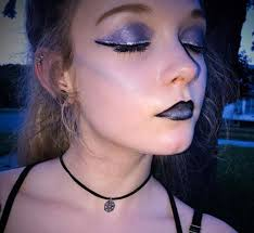 a galaxy glam makeup look
