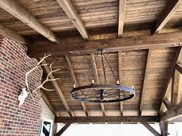 wagon wheel chandelier 0449