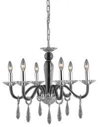 avalon 6 light mini chandelier in black
