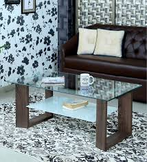luna tempered glass coffee table in