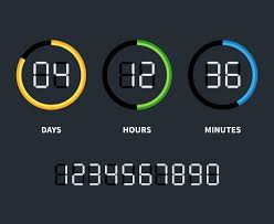 Digital Clock Or Countdown Timer Time Concept Vector