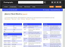 jquery cheat sheet top 10 jquery cheat sheets hand books for time starved geeks