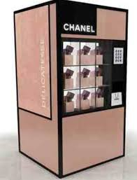 Chanel Vending Machine Simple Flicks And Red Lips Vogue Fashion Night Out