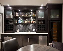 Exellent Modern Basement Bar Design Contemporary Pictures For With Dark Brown Intended Innovation