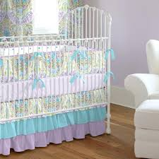 purple and grey crib bedding set girl baby aqua jasmine by carousel designs sets uk