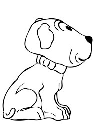Kleurplaat Puppy Afb 17369