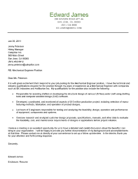 cover letter for engineering job mechanical engineer cover letter example