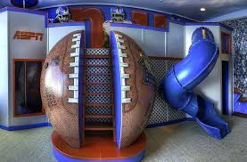 cool bedrooms for kids. Cool Kids Bedrooms Bedroom With Slide On Boys Football Theme Room . For