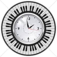 wall clock for office. Piano Keys Around The Office Wall Clock, 8199, Download Royalty-free Vector Clock For \