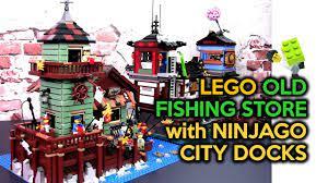 Setting the LEGO Old Fishing Store (21310) with Ninjago City Docks (70657)  - YouTube