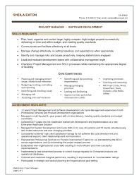 Sample Resume Project Manager Sample Resume For Project Manager It Software India Save Project 59