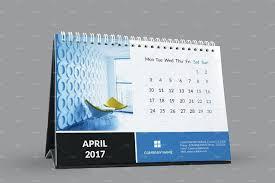 desk calendar template 2017 design