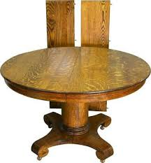 details about 19554 antique round oak empire dining table