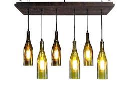 glass bottle chandelier wine recycled kit