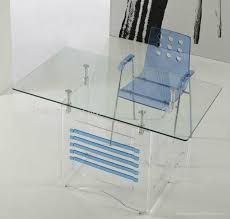 acrylic computer table lucite office desk 4 acrylic office furniture