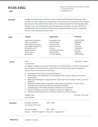 Pastry Chef Resume Example Resume Template Directory