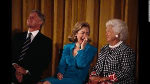 Image result for images bill clinton george hw bush hillary clinton barbara bush