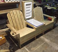 double adirondack chair plans. Adirondack Bench W Built In Cooler Ready For Beer And Ice. Double Chair Plans O