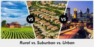 Urban Suburban Rural Difference Between Rural And Suburban And Urban Difference Between