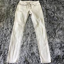 Eileen Fisher Acid Wash White Skinny Jeans Size 2