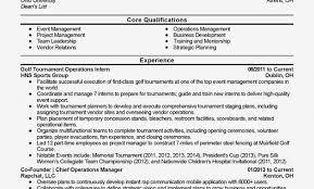 golf professional resume professional golf tournament operations intern templates to showcase