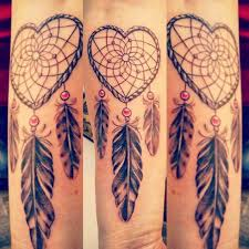 Heart Shaped Dream Catcher Tattoo 100 Gorgeous Dreamcatcher Tattoos Done Right Dreamcatcher tattoos 2