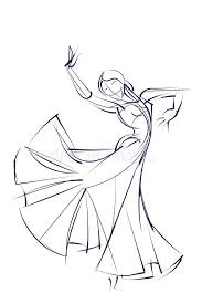 ink sketch gesture drawing of dancer stock vector ilration of artwork vector