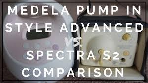 Medela Comparison Chart Spectra S2 Vs Medela Pump In Style 2019 Comparison Guide