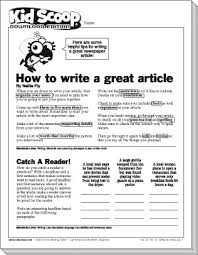 Writing A Newspaper Article How To Write A Great Article