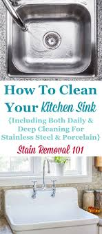 How To Clean Kitchen Sinks Hints And Tips House Cleaning Tips