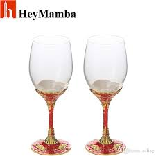 2019 heymamba crystal glass wine cup gold plated wine glasses bordeaux goblet wedding party red rose metal wineglass from zaling 1077 39 dhgate com