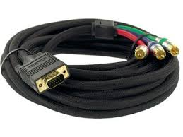 1 5 meter vga to 3 rca component video cable hd15 rgb to 3 rca