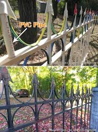 or faux wrought iron fence spray paint pvc pipe best way to cool painting projects you never thought of