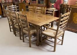 table 8. vintage solid oak refectory dining table \u0026 8 chairs pertaining to most recently released t