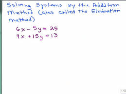 solving systems of equations by addition pt 1 preview image