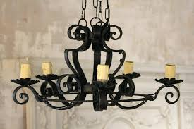 wrought iron chandeliers whole french vintage wrought iron 5 arm chandelier with swirled arms vintage wrought