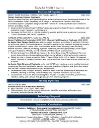 Resume Template Engineering Student Resume Sample Aerospace