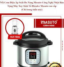 TẶNG MÁY XAY SINH TỐ] Nồi áp suất điện đa năng 7 trong 1 nấu cơm kho cá hầm  thịt Masuto tặng máy xay sinh tố Blender công nghệ Nhật Bản