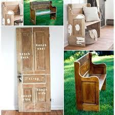 old door bench got new life