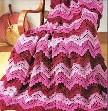 Double Crochet Ripple Afghan Pattern Delectable Elegant Round Crochet Blanket Mohona