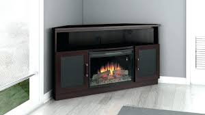 electric fireplace tv stands on s s corner electric fireplace tv stand black
