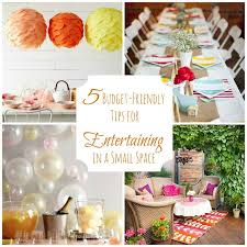 inexpensive party in a small space