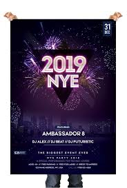 new year s template 2019 new year eve free psd flyer template free psd flyer