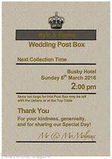 How To Decorate A Wedding Post Box Personalised Royal Mail Post Box Wedding Card Box Sign Post box 66