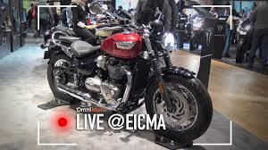triumph bonneville bobber black e speedmaster eicma 2017 youtube