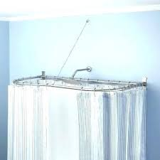 harmonious l shaped shower curtain rod u shaped shower curtain rod singapore r7127328
