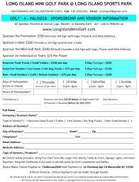 Long Island Food Trucks Vendor Application Form